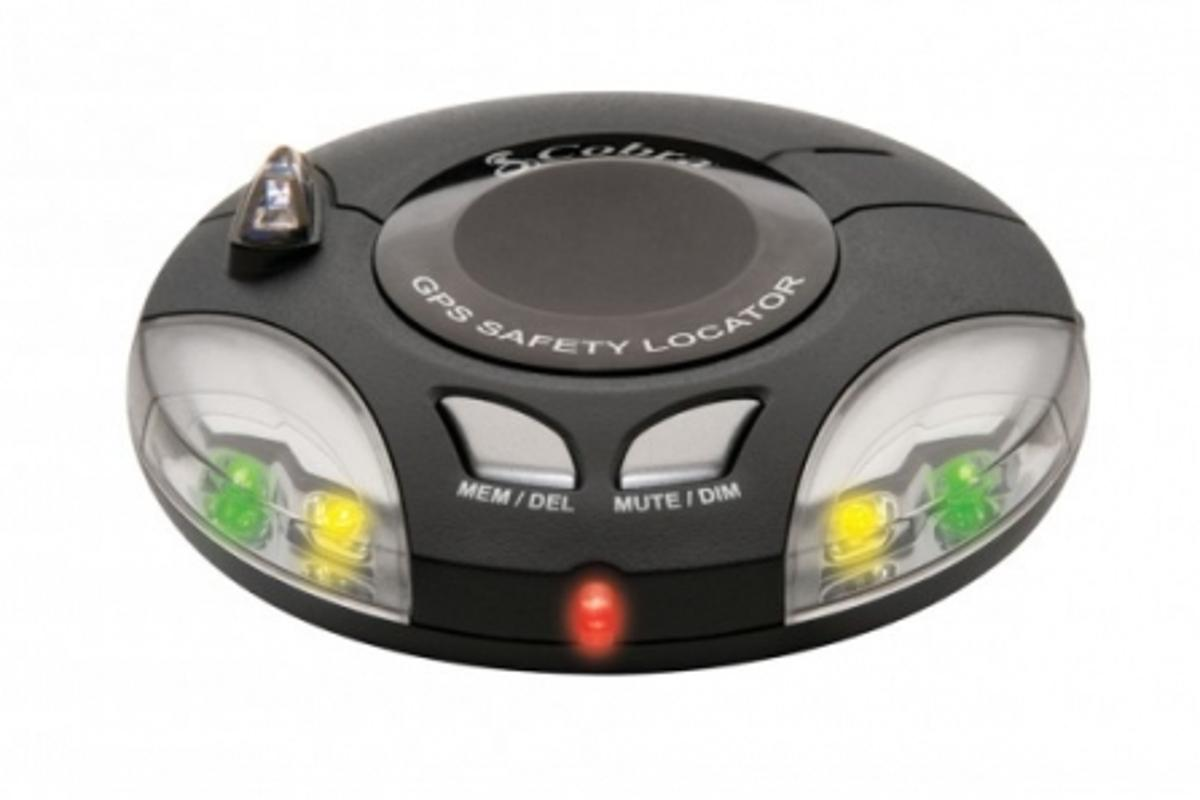 The Cobra SL3 GPS-enabled traffic camera locator