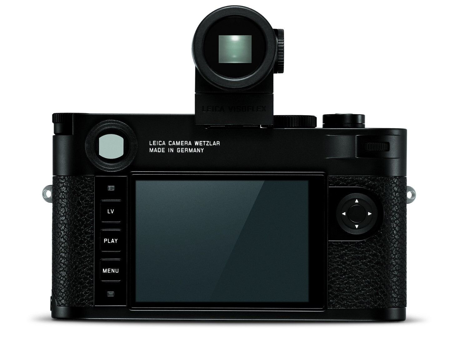 The optional EVF mounted on the Leica M10