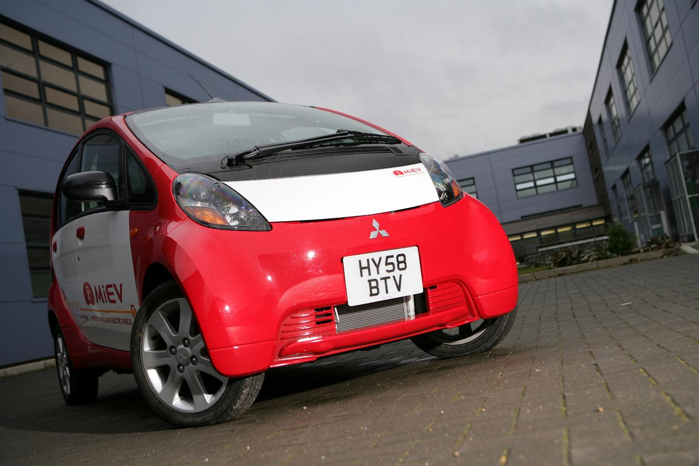 Mitsubishi's iMiev all electric vehicle earlier this year