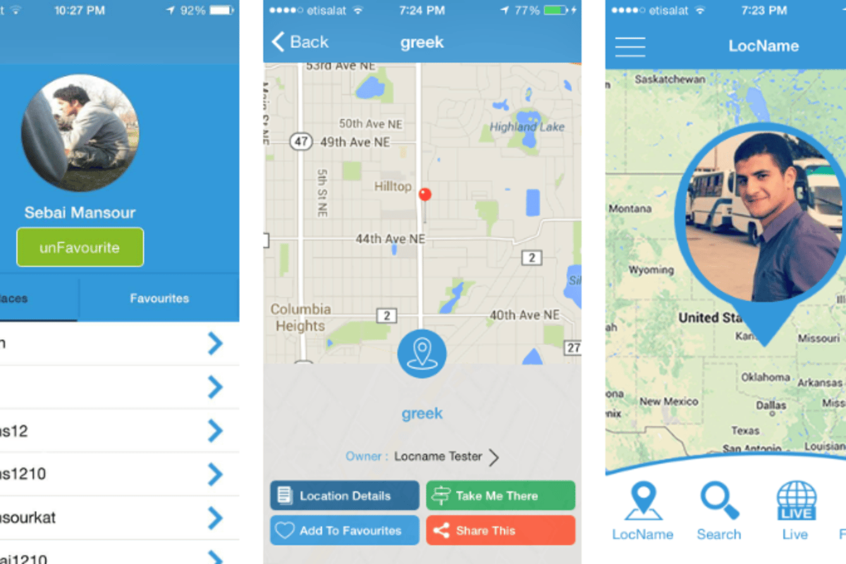 LocName allows users to share place location information via a URL and mobile app, as well as navigate to a location