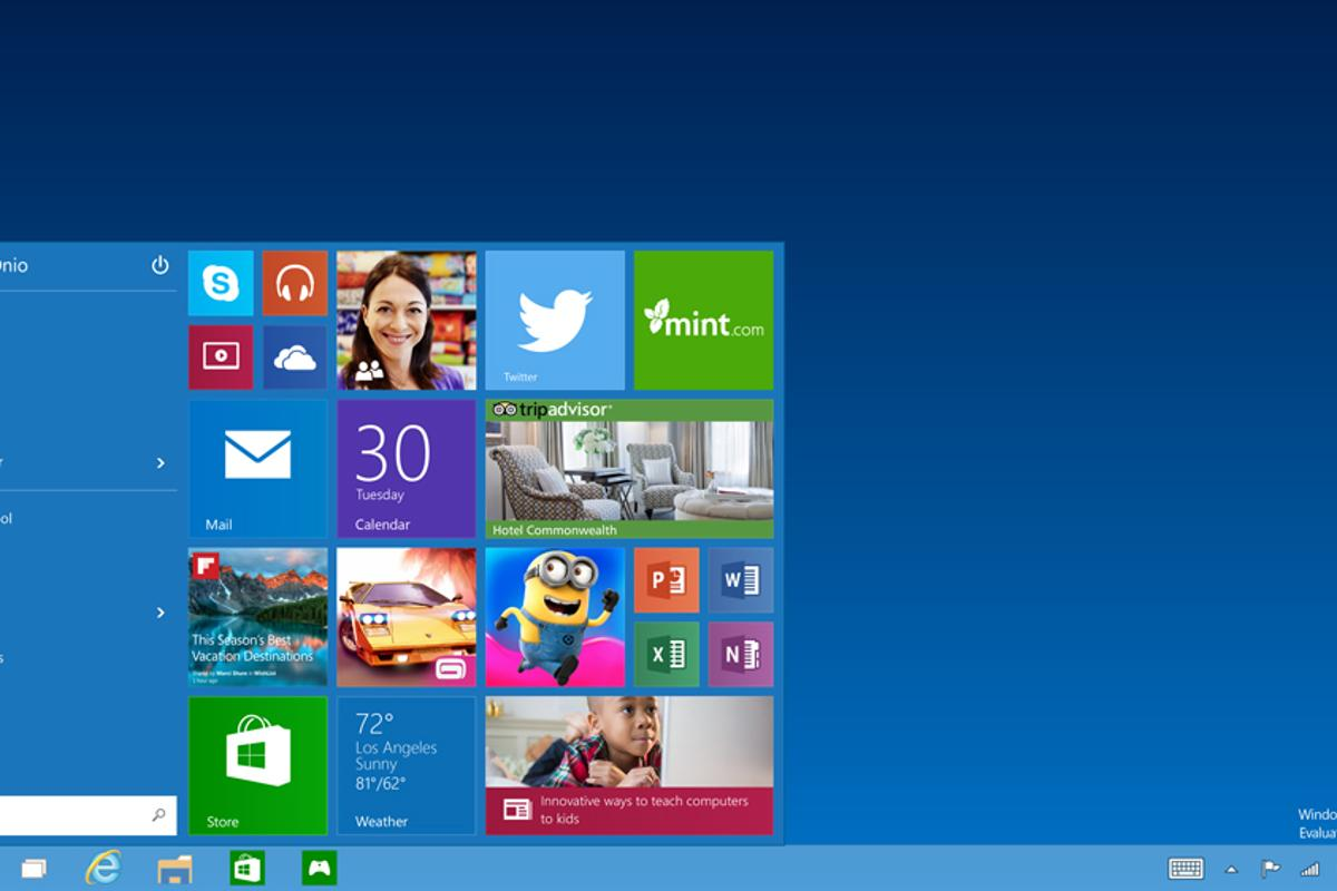 Windows 10 shrinks Windows 8's Start Screen and moves it to the Start Menu