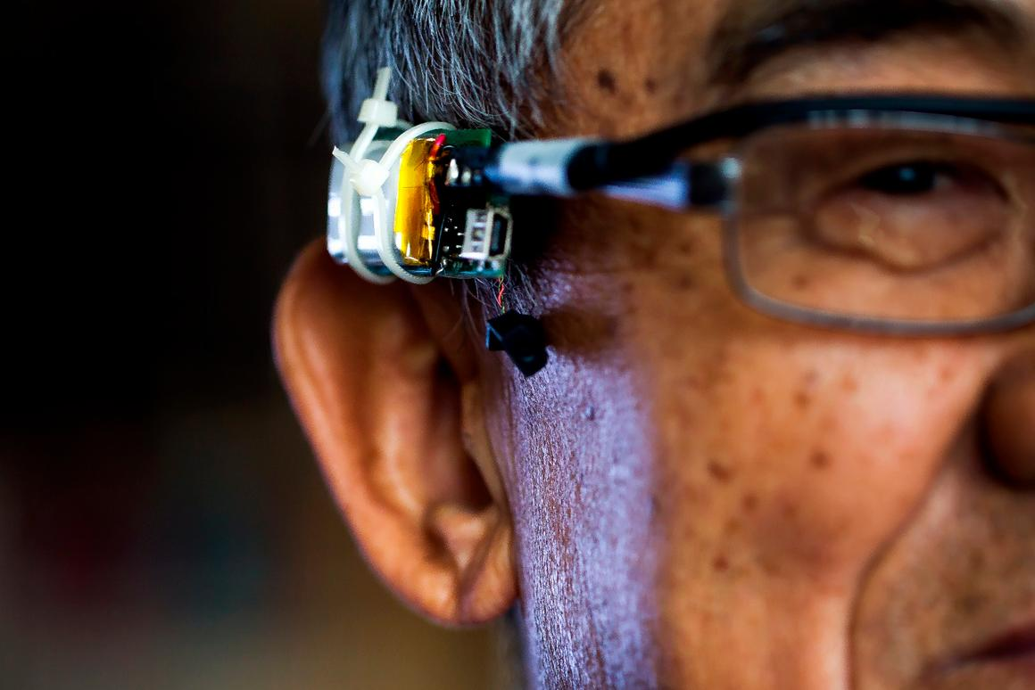 A prototype VAuth eyeglasses attachment