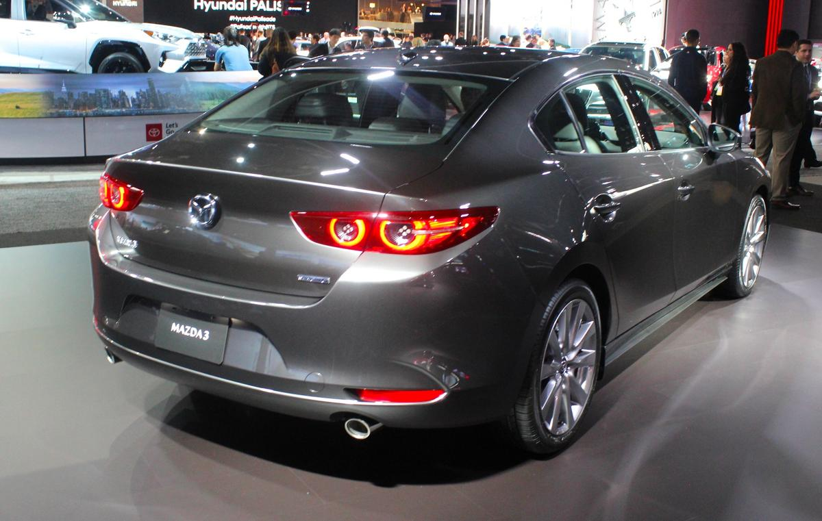 Overall body designs were simplified for the Mazda3 to make the sedan more sleek and the hatchback more dynamic