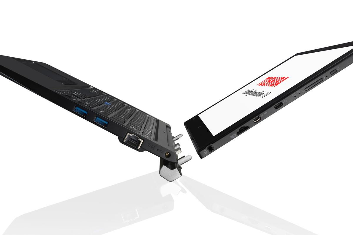 The Z20t is capable of both tablet and laptop functionality, but also offers tent mode