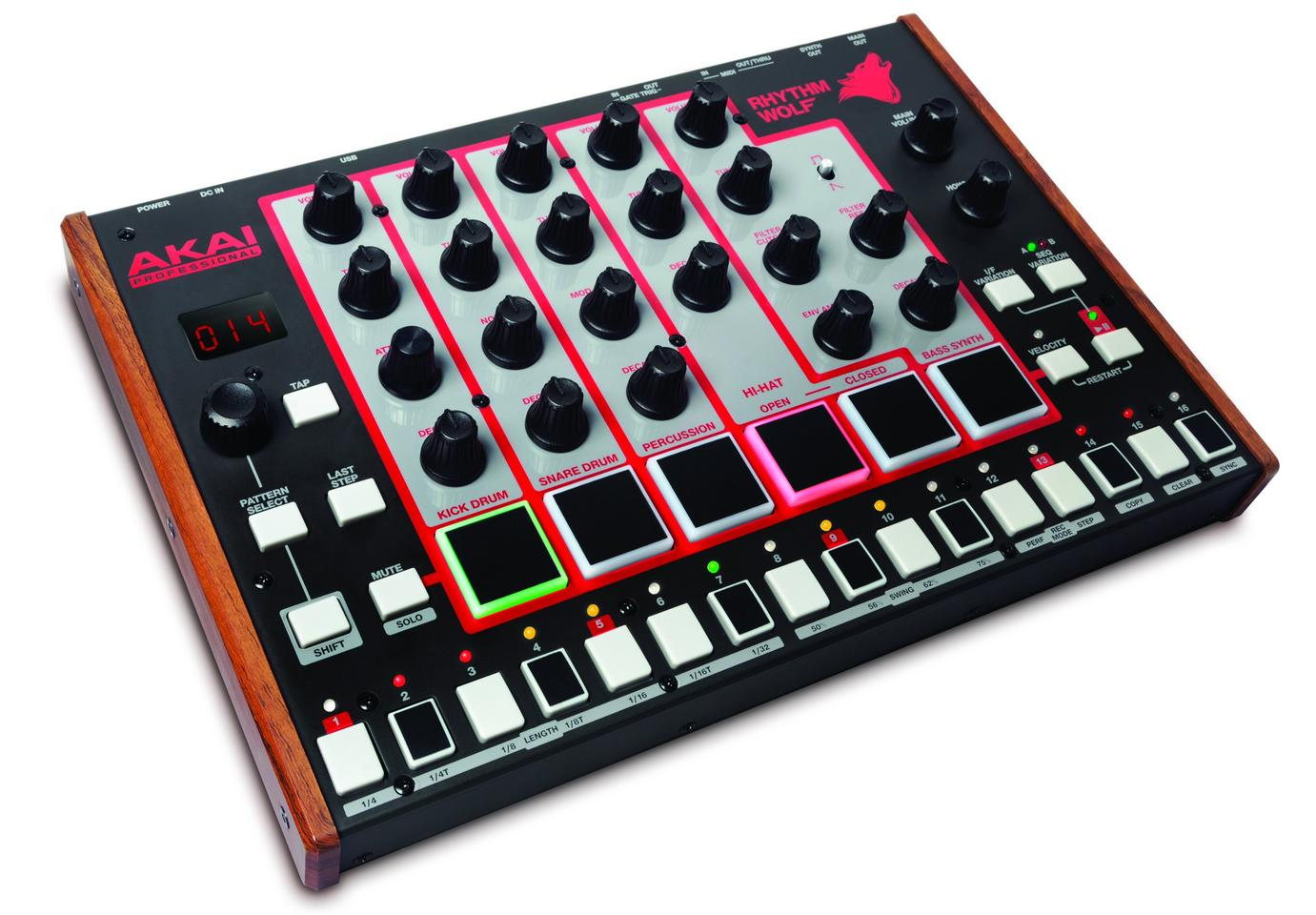 The Rhythm Wolf analog drum machine and bass synth from Akai