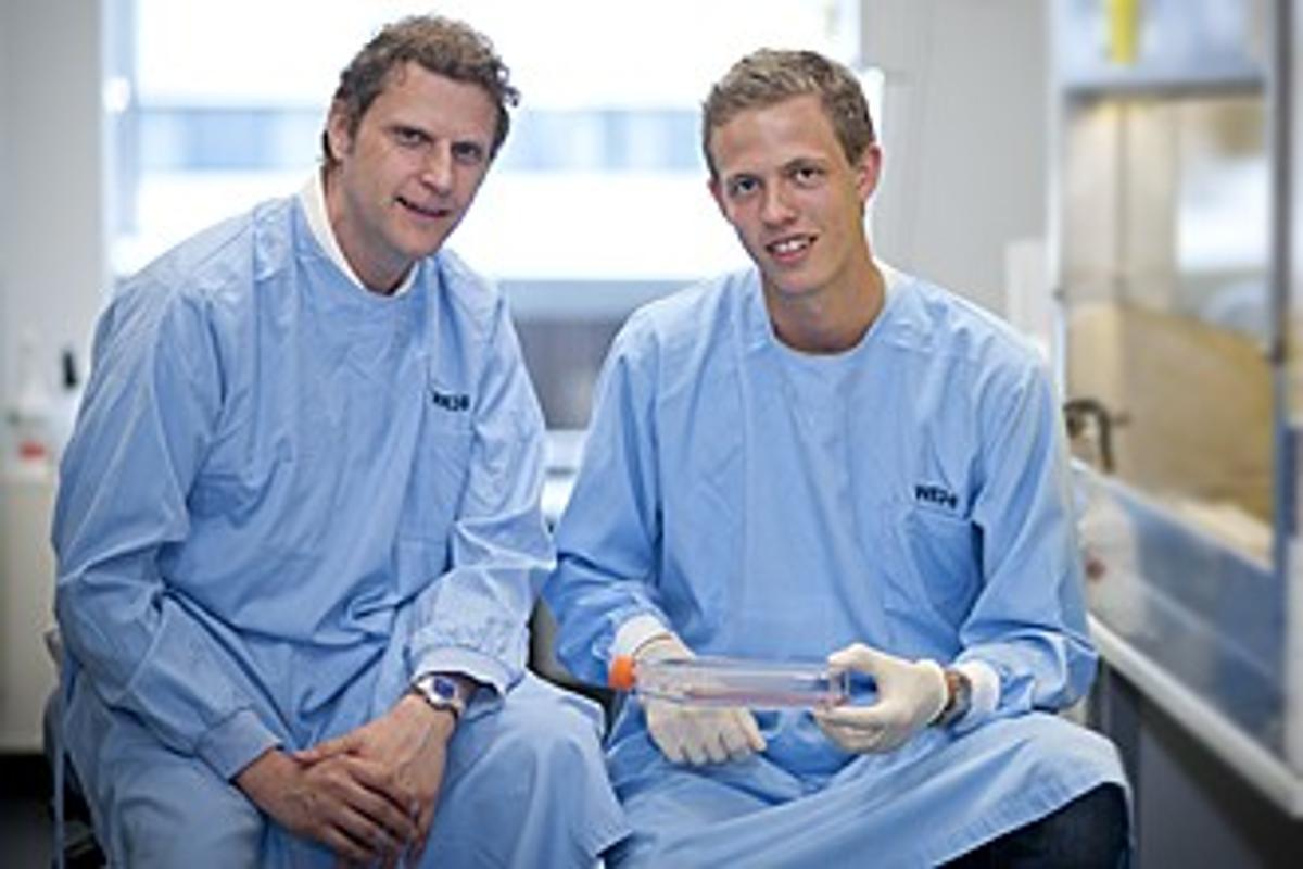 Dr Marc Pellegrini (left) and Mr Simon Preston, from the Walter and Eliza Hall Institute in Melbourne, Australia