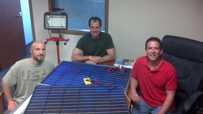 The Forty2 development team from Peppermint energy - Daren Davoux (left), Tom Brzica (center) and Brian Gramm (right)