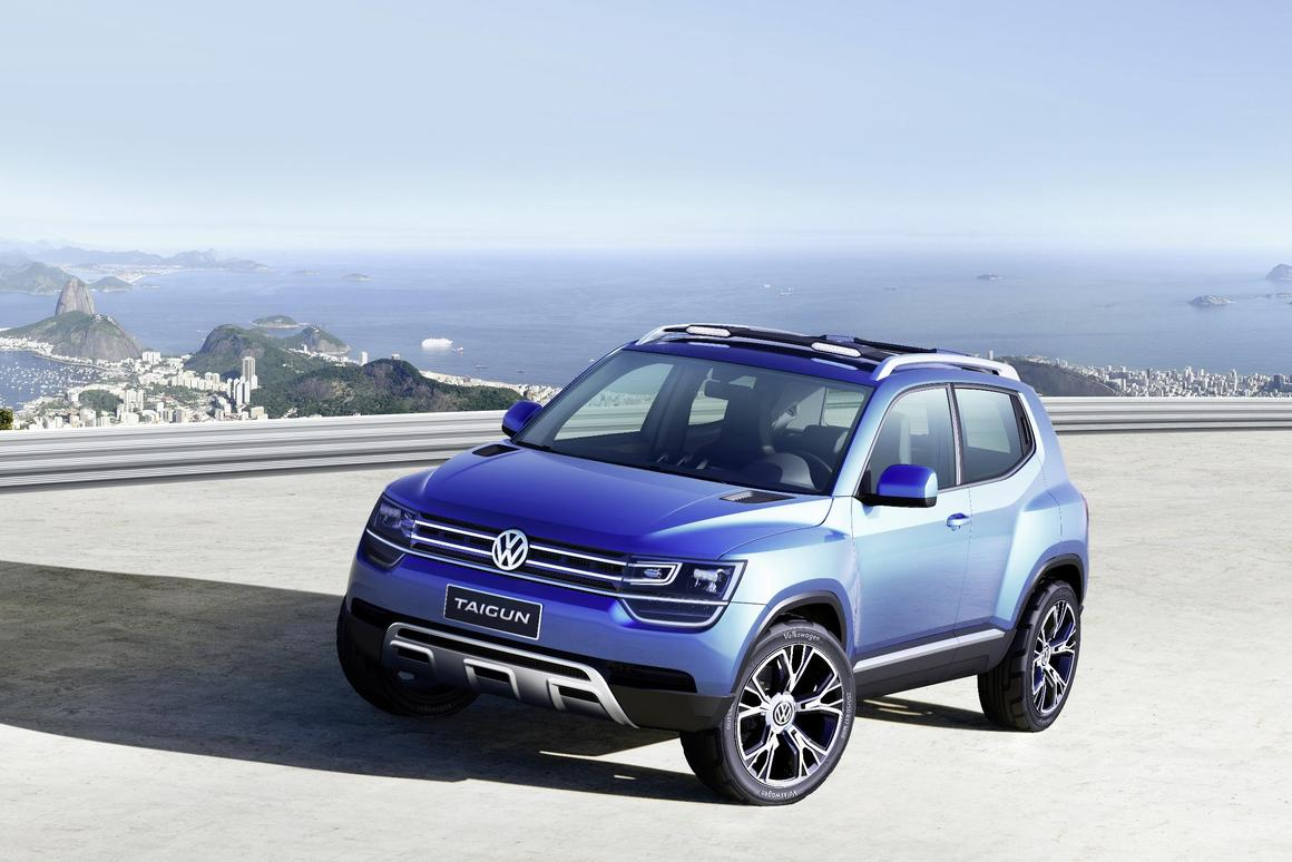 The Volkswagen Taigun compact SUV concept is likely to go into production if the public responds favorably to the design