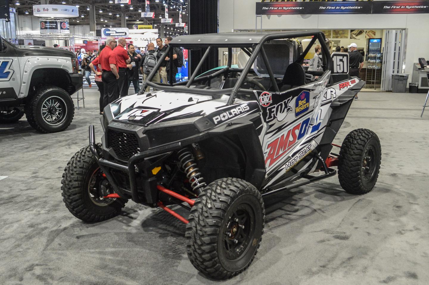 This Polaris side-by-side was the first off-roader to greet us, seconds after we began touring the SEMA floor (Photo: C.C. Weiss/Gizmag)