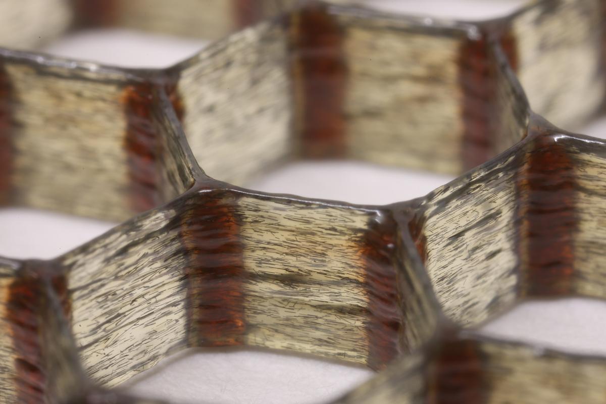 A new 3D-printed composite surpasses the lightness and stiffness of balsa wood (Photo: Harvard University)