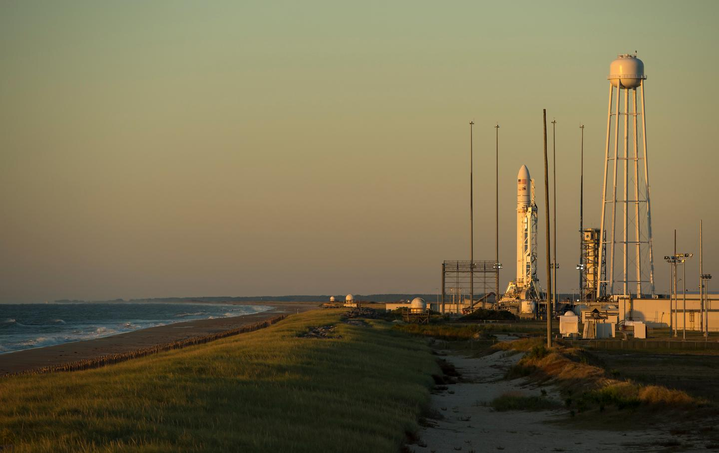 Antares rocket awaiting lift off (Image: NASA)