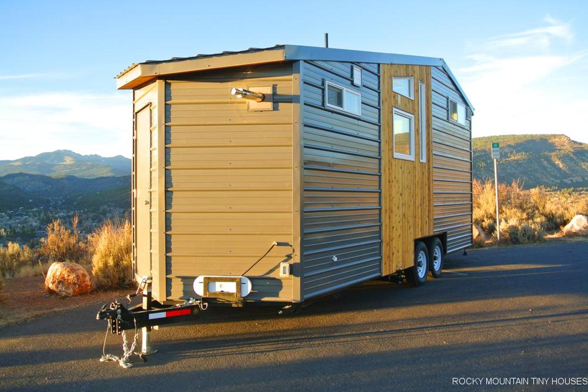 Rocky Mountain Tiny Houses delivered the Wanderlust unfinished