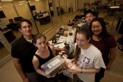 Team Baby Bubbler: Michael Pandya, Jocelyn Brown, Katie Schnelle, Haruka Maruyama and Joseph Chang