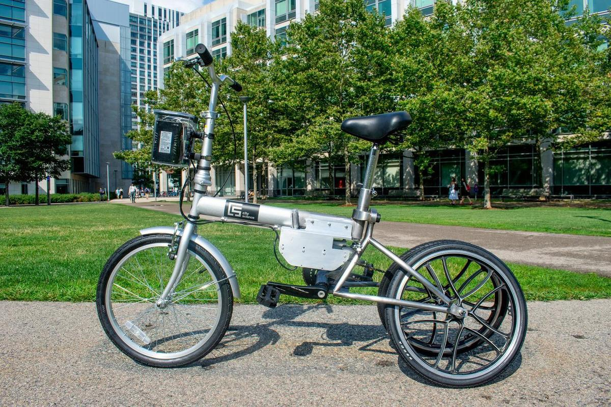 The MIT Autonomous Bicycle, pictured here without the front hub motor