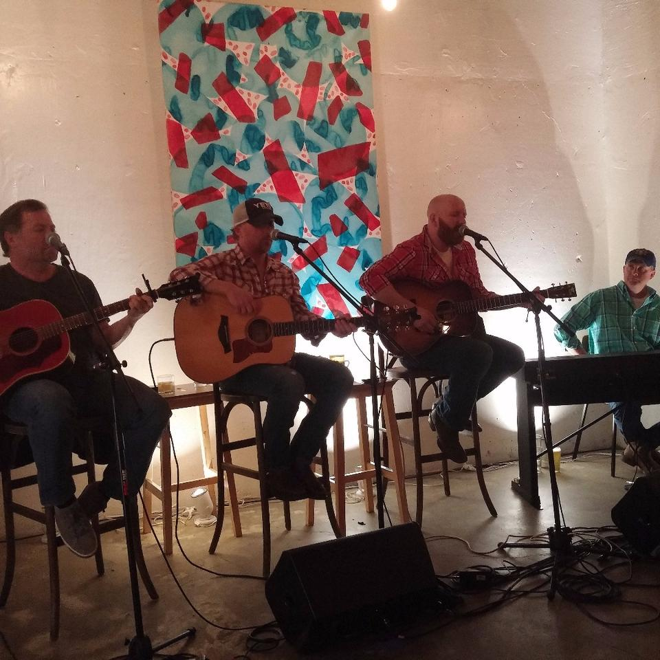 From left to right songwriters Frank Rogers, Lynn Hutton, Brent Anderson, and Monty Criswell