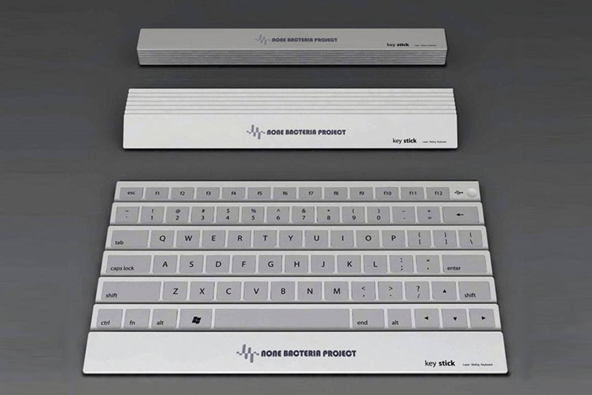 The Keystick folding keyboard concept