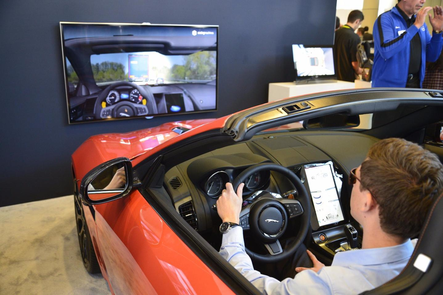 Jaguar's sophisticated eye-tracking system may be employed in a new, if mundane way – helping drivers by deciding when to operate the rear screen wiper