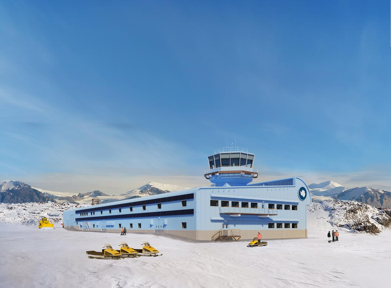 The Discovery Building will replace a series of buildings spread across the Rothera Research Station site which are deemed outdated or costly to maintain