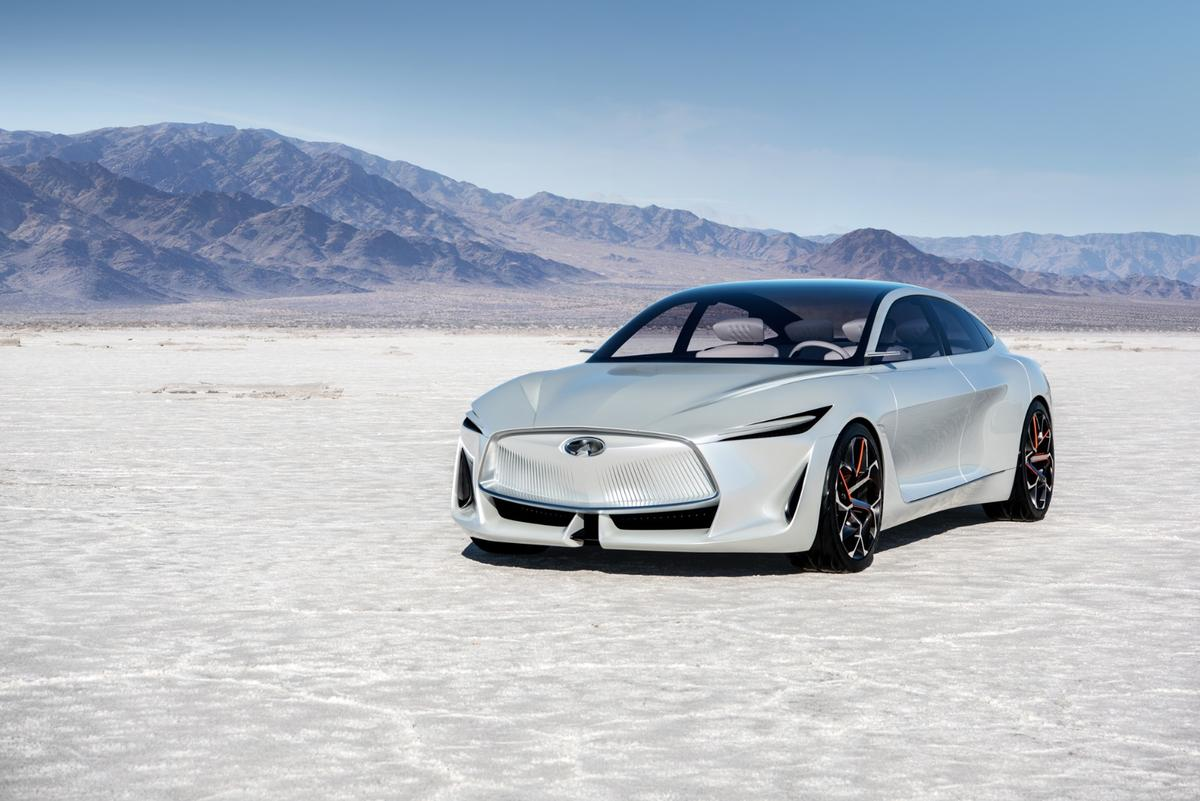 The Infiniti Q Inspiration Concept is the first vehicle from the carmaker that is designed specifically to show what the VC-Turbo engine can do to change vehicular design