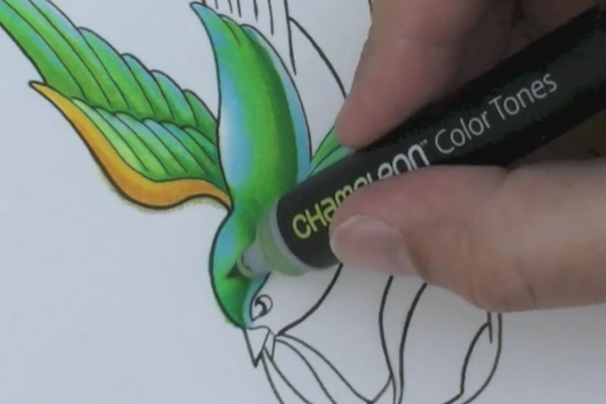 The Chameleon Pen produces multiple color tones from a single nib