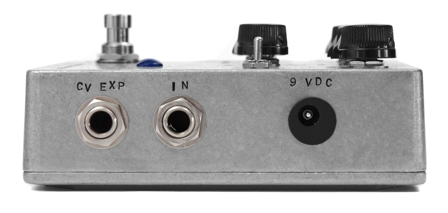 "A user can control aspects of the sound ""by either expression pedal or any voltage source, such as a step sequencer or any other synth with voltage outs"""