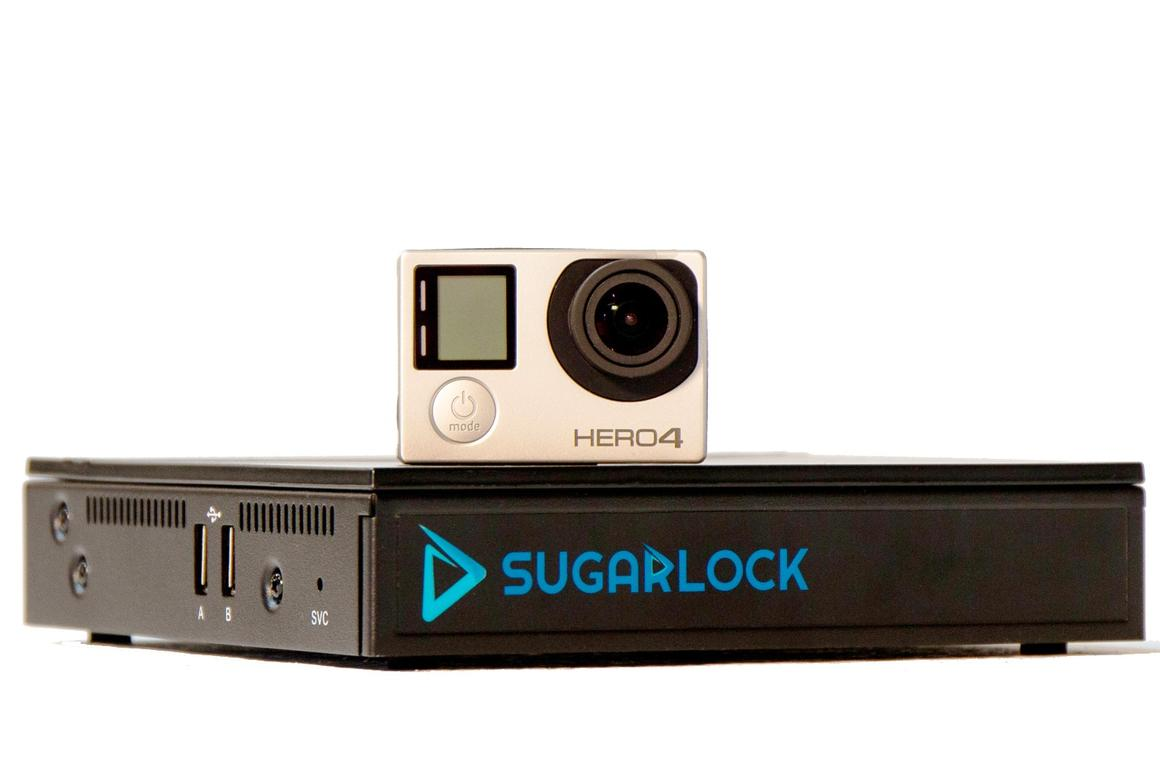 The Sugarlock action cam dock lets you edit video footage on a TV