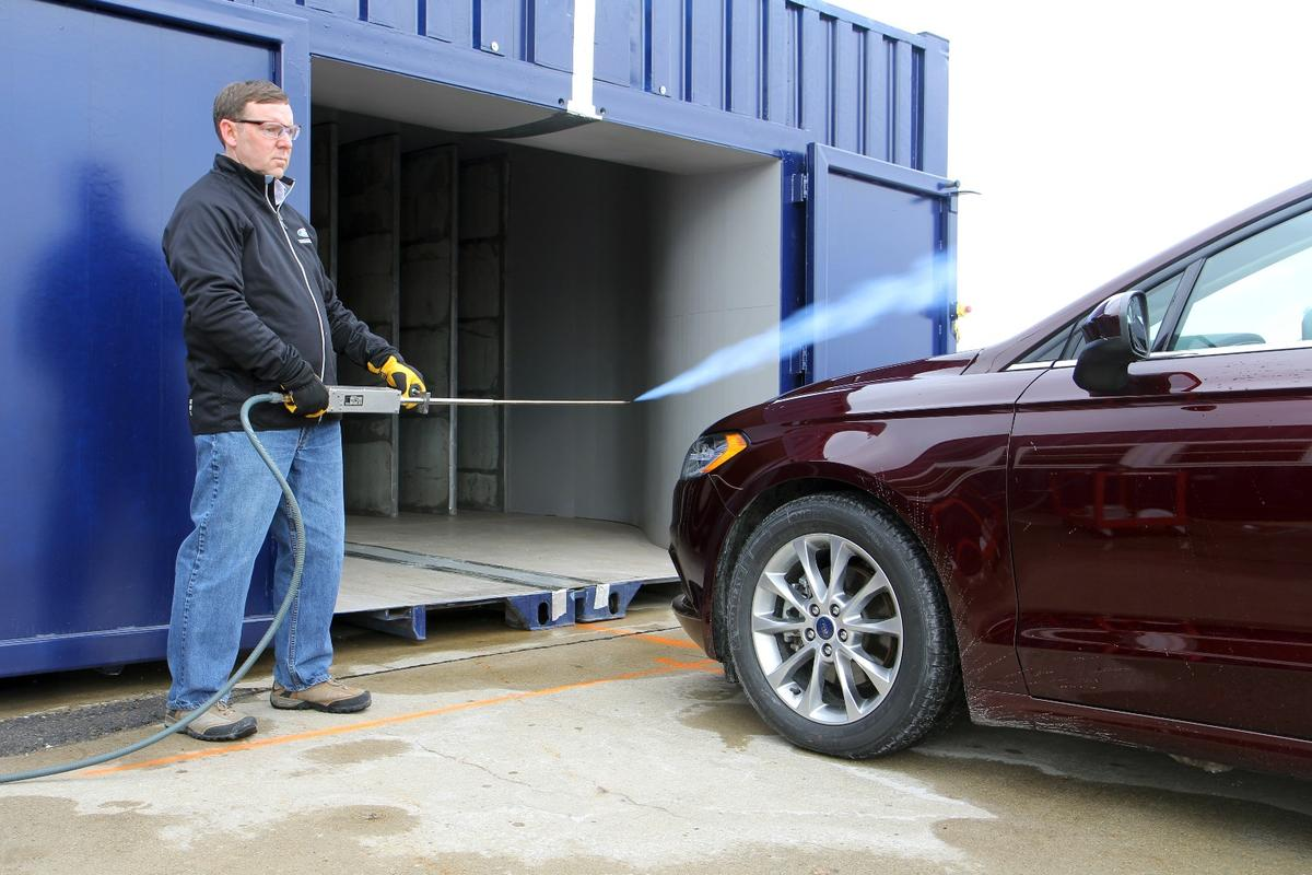 Ford's new wind tunnel can be packed up and moved to different manufacturing plants