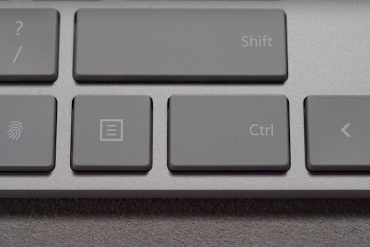 Microsoft's new Modern Keyboard with Fingerprint ID has a fingerprint scanner that looks just like a regular key