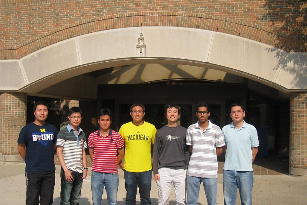The Zhong group from U-M responsible for pioneering a new graphene-based photodetector (Photo: University of Michigan)