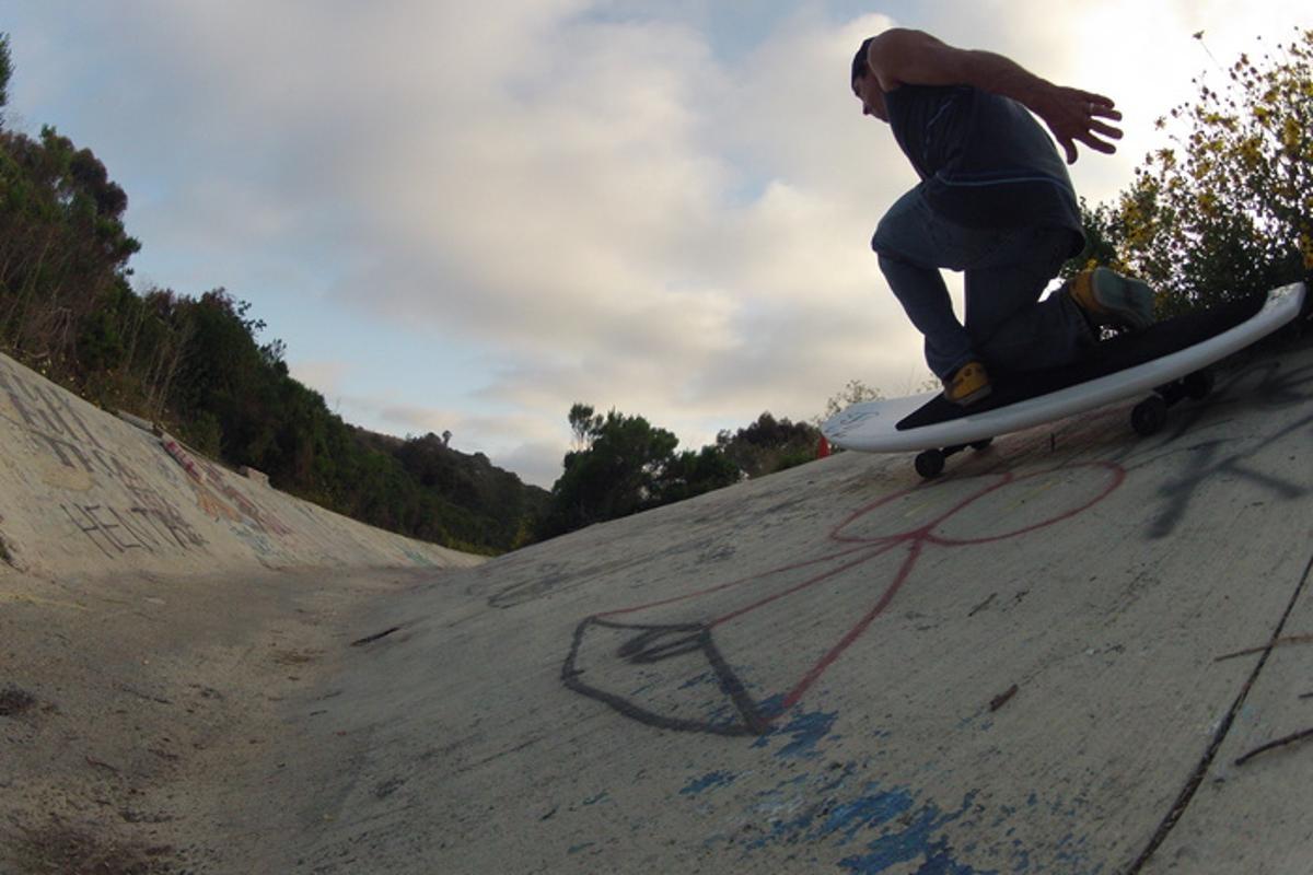 The WaveSkate takes on hard ground