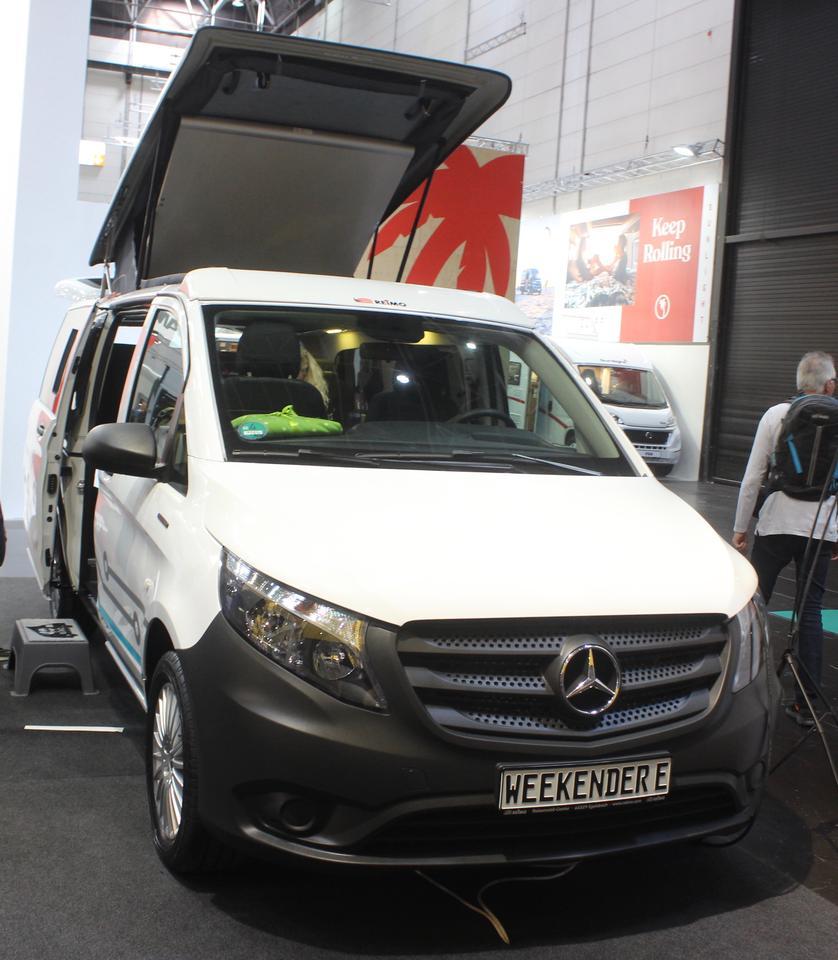 Reimo shows the Weekender E concept camper van at the 2019 Düsseldorf Caravan Salon