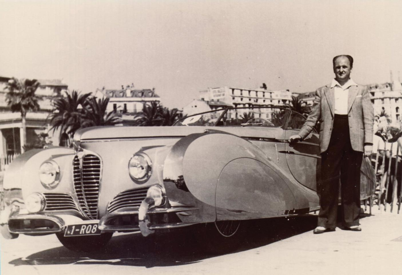 The Delahaye 175 S Roadster in its prime on the concours circuit. Photo: COLLECTION JEAN PIERRE