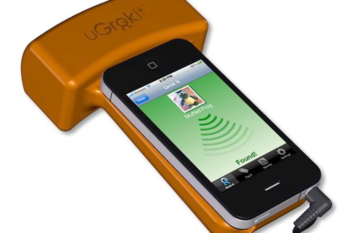 U Grok It is a smartphone-based system that allows you to find missing items, that have been tagged with radio-frequency labels