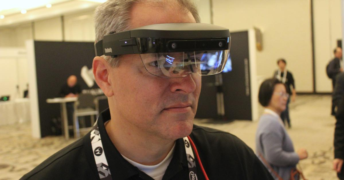 Lenovo showcases its lightweight ThinkReality AR headset