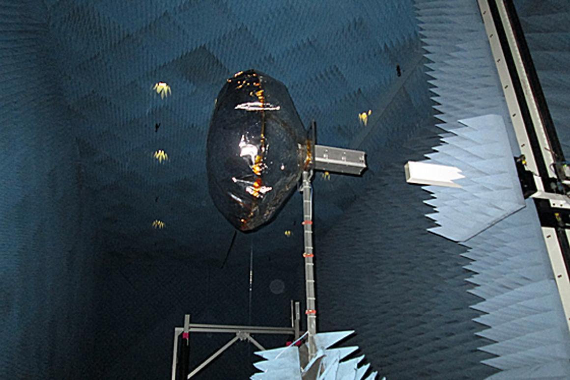 One of the Mylar test antennas