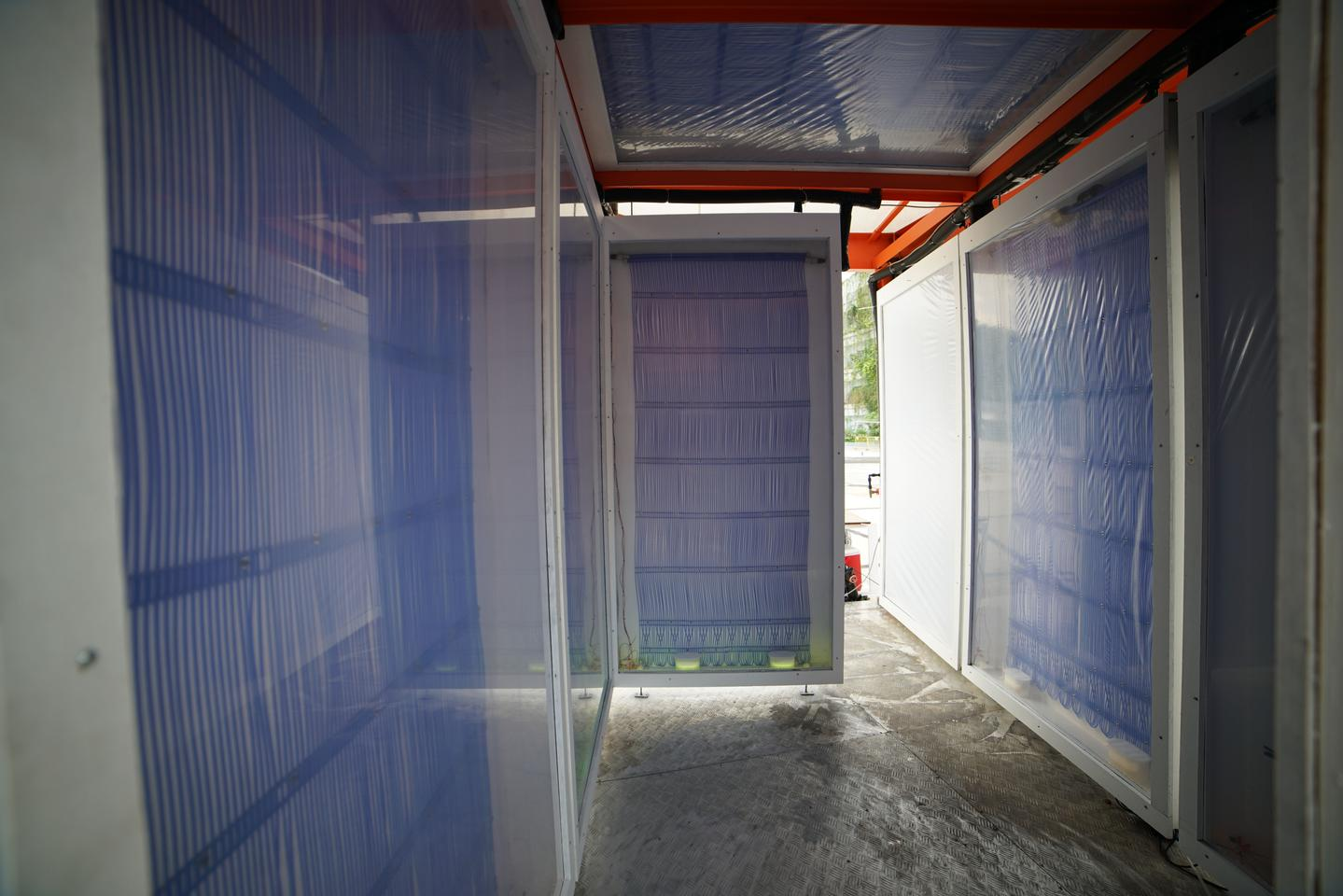 A look inside a pavilion incorporating the Cold Tube system