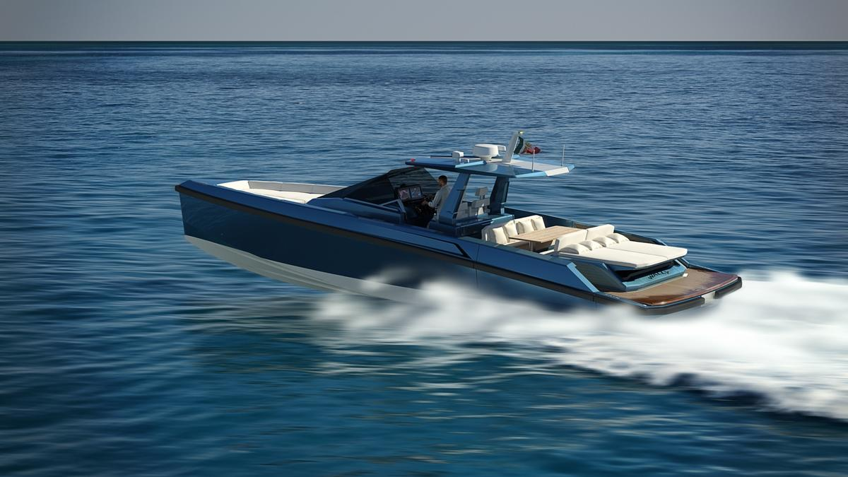 The 48 Wallytender has a top speed of 38 knots