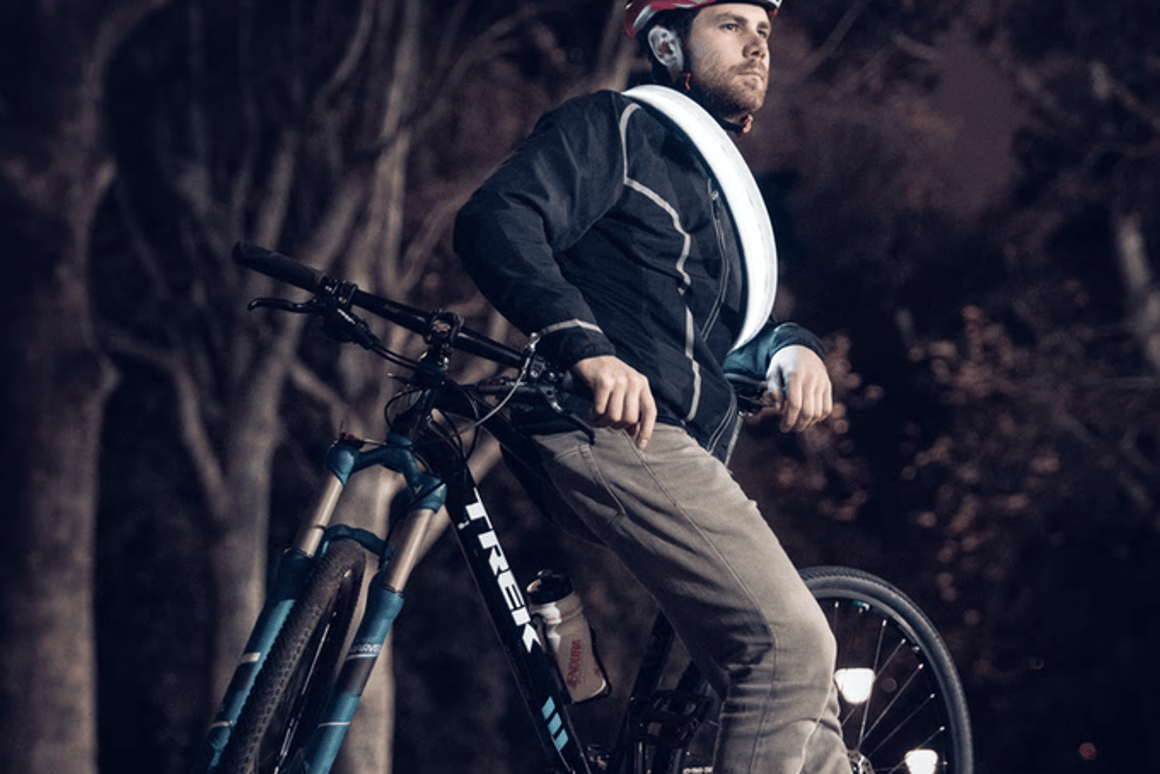 The Vivid Lock lights up with LED and reflective material to keep cyclists safe at night