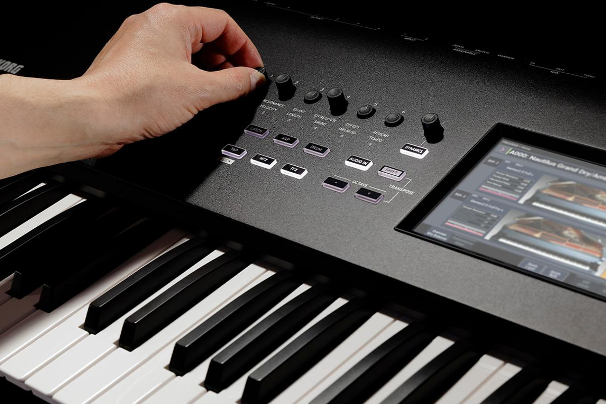 The monstrous number of sounds available on the Nautilus are divided into three broad collections for ease of use