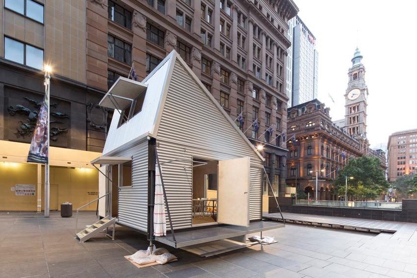 Carter Williamson's Shelter on show at last year's Sydney Architecture Festival