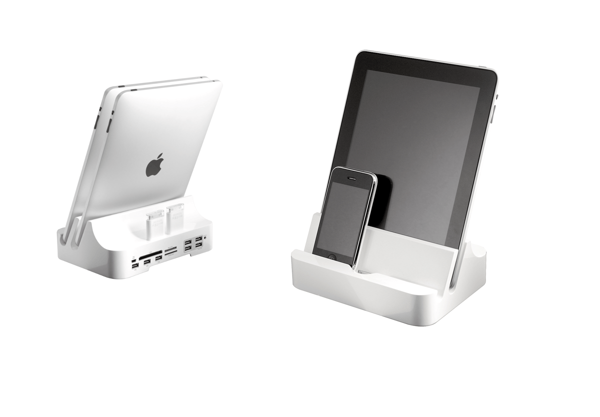 The iPADock provides a home for most, if not all, of your iDevices