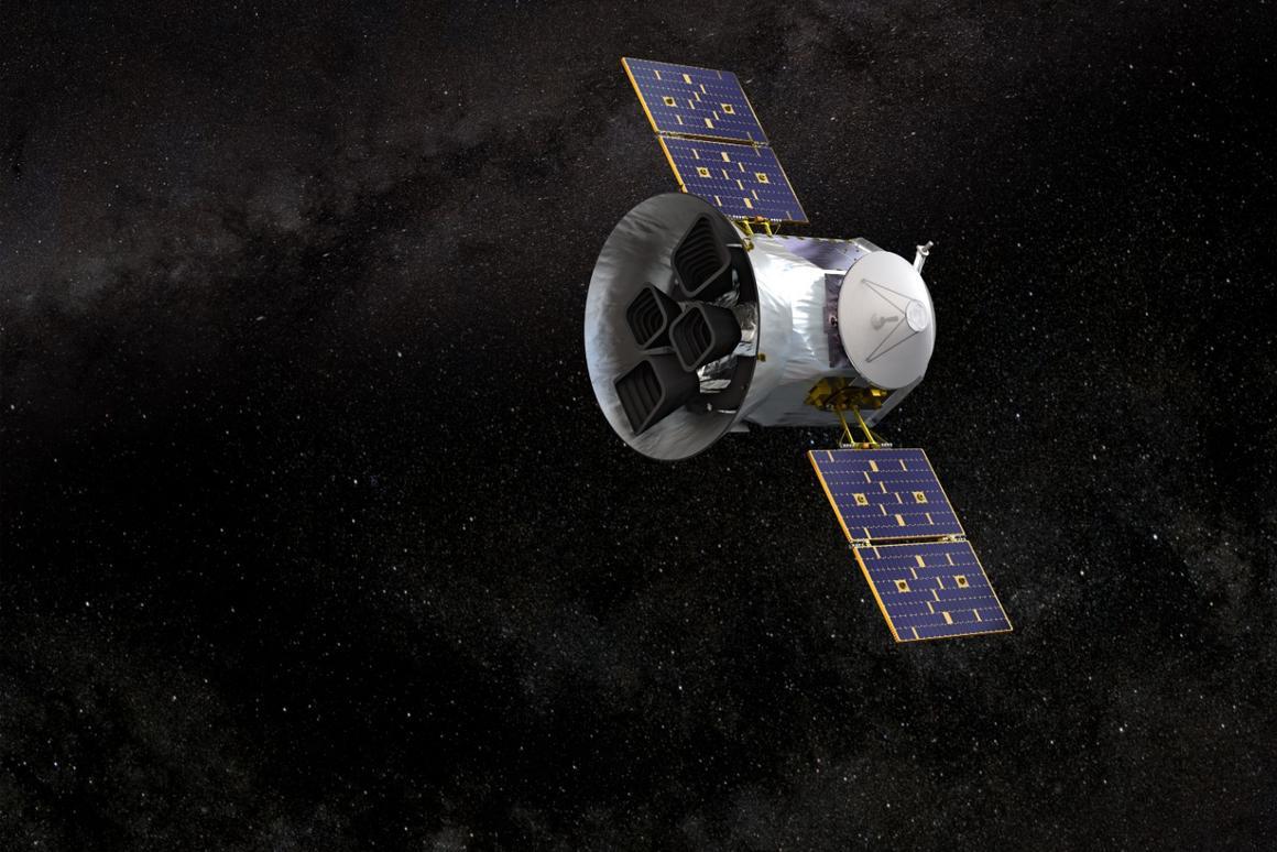 Artist's impression of TESS in orbit