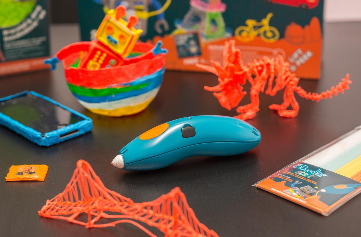 The 3Doodler Start is a 3D pen from WobbleWorks designed specifically for kids