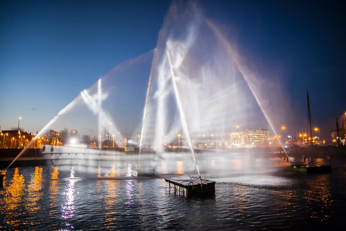 Ghost Ship is an installation at the Amsterdam Light Festival (Photo: Janus van den Eijnden)