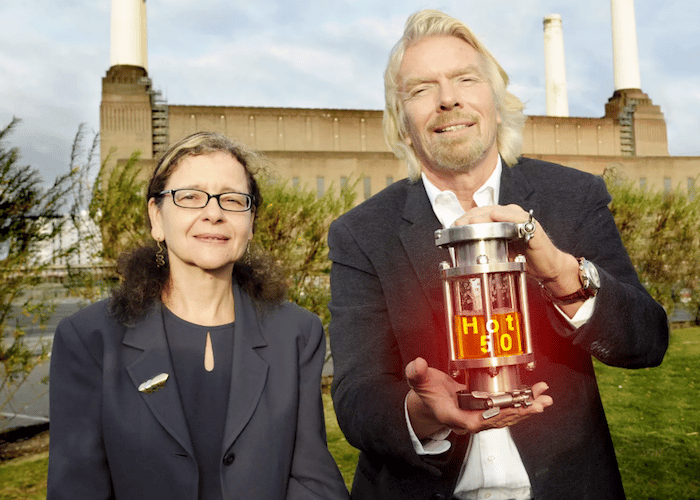 DrJennifer Holmgren, Chief Executive of LanzaTech, and Sir Richard Branson, director of Virgin Atlantic