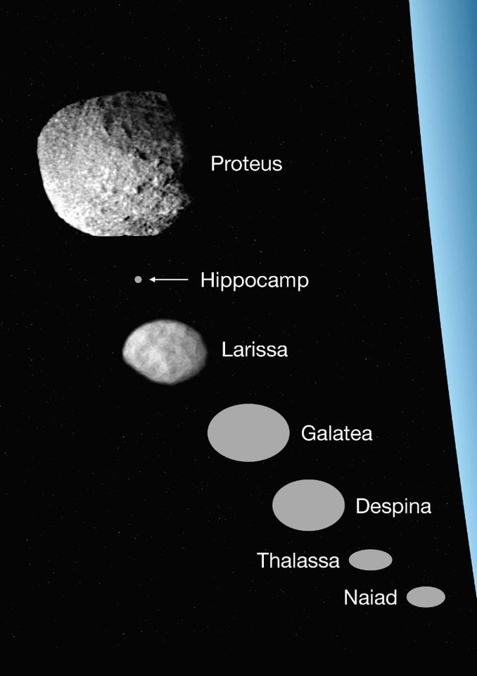 A size comparison of Neptune's inner moons