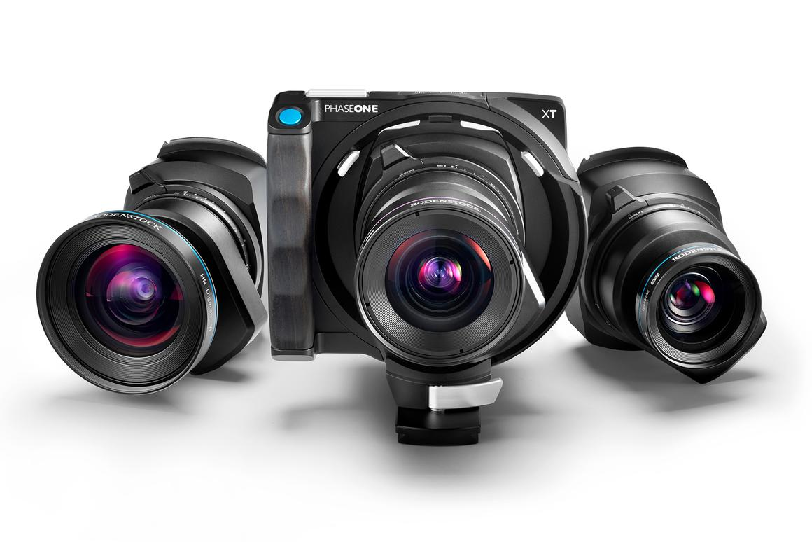 The Phase One XT medium format camera system is made up of three parts: a digital back, a camera body and one of three Rodenstock lenses