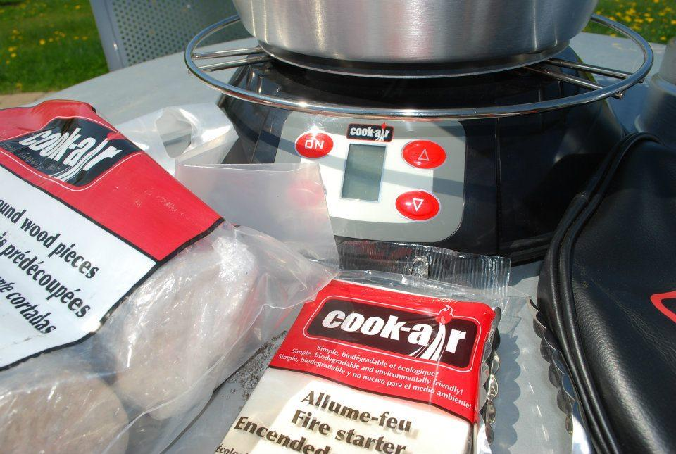 The Cook-Air grill comes with a complete kit with all the necessary components