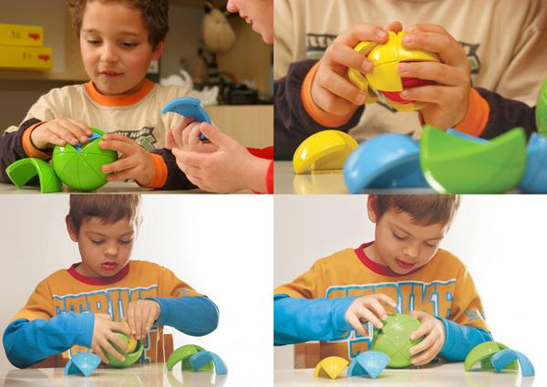 The Oblo didactic puzzle is designed to challenge a pre-schooler's mind whilst also developing their fine motor skills and hand-eye coordination