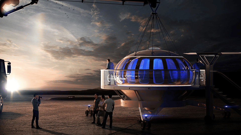 Up to eight passengers (plus a pilot) would start by boarding the company's Spaceship Neptune pressurized capsule